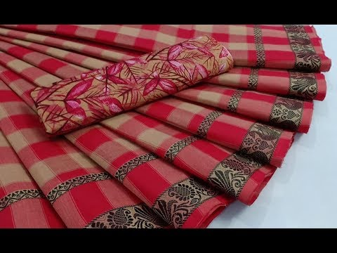 481fb40c434d2 Chettinad Fancy Checked Cotton Sarees