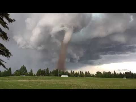 Tornado at Three Hills, Alberta - June 2, 2017 - Time Lapse