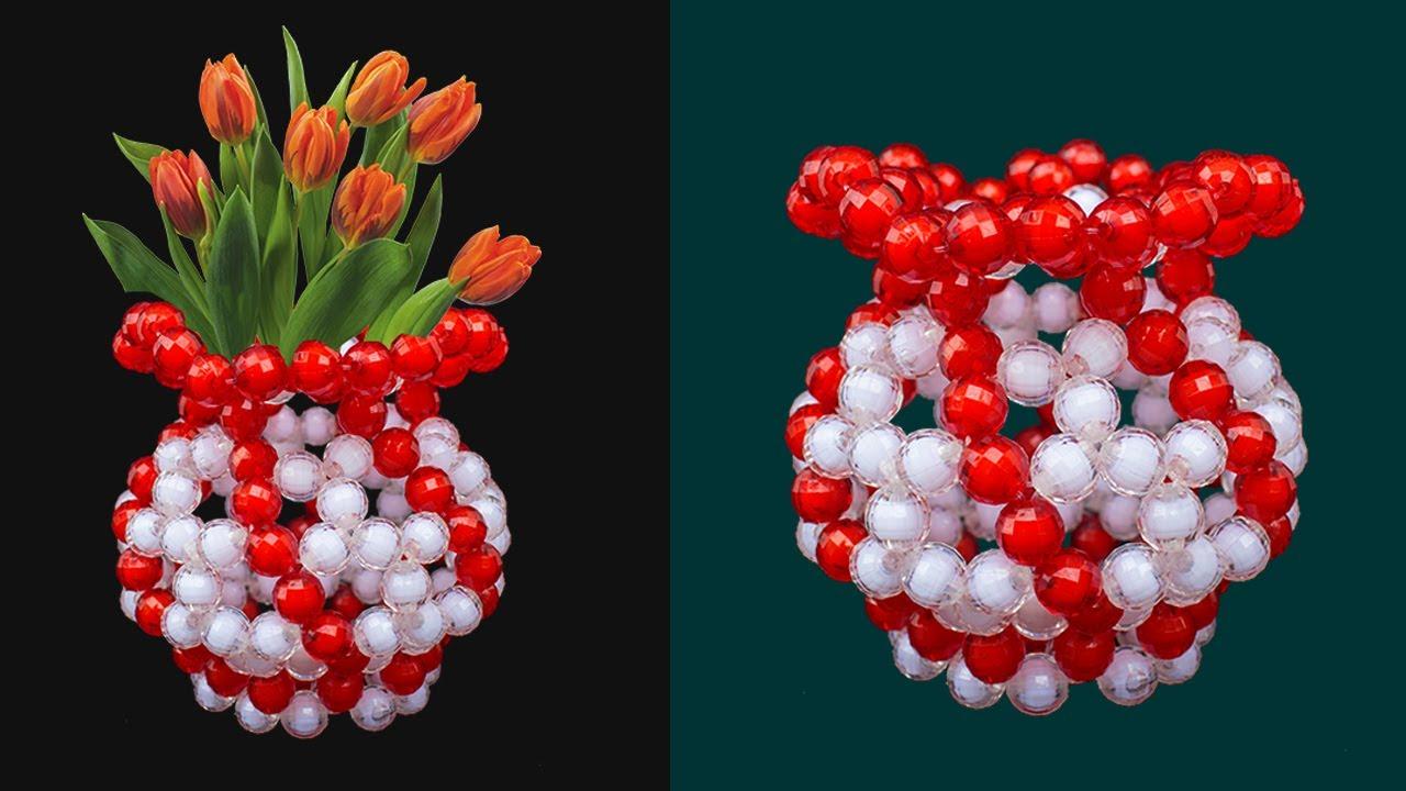 Download How To Make Flower Vase - Beaded Flower Vase / Flower Pot / DIY Flower Vase / Putir Fuldani