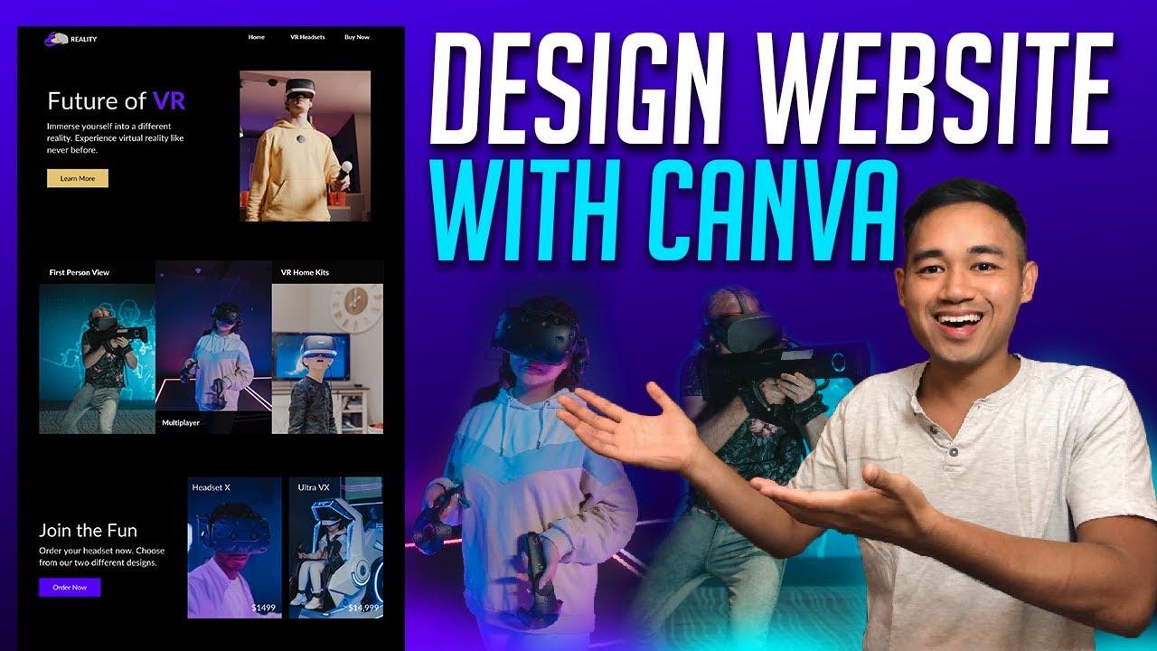 How to Design a Website Using Canva Beginner Tutorial