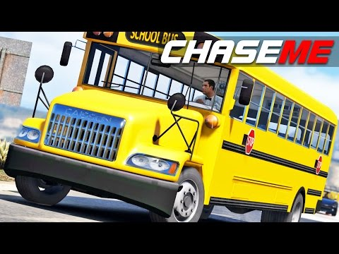"Chase Me E06 - School Bus ""High Speed"" Pursuit"