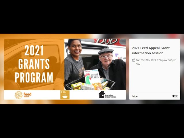Feed Appeal Grant Information Session