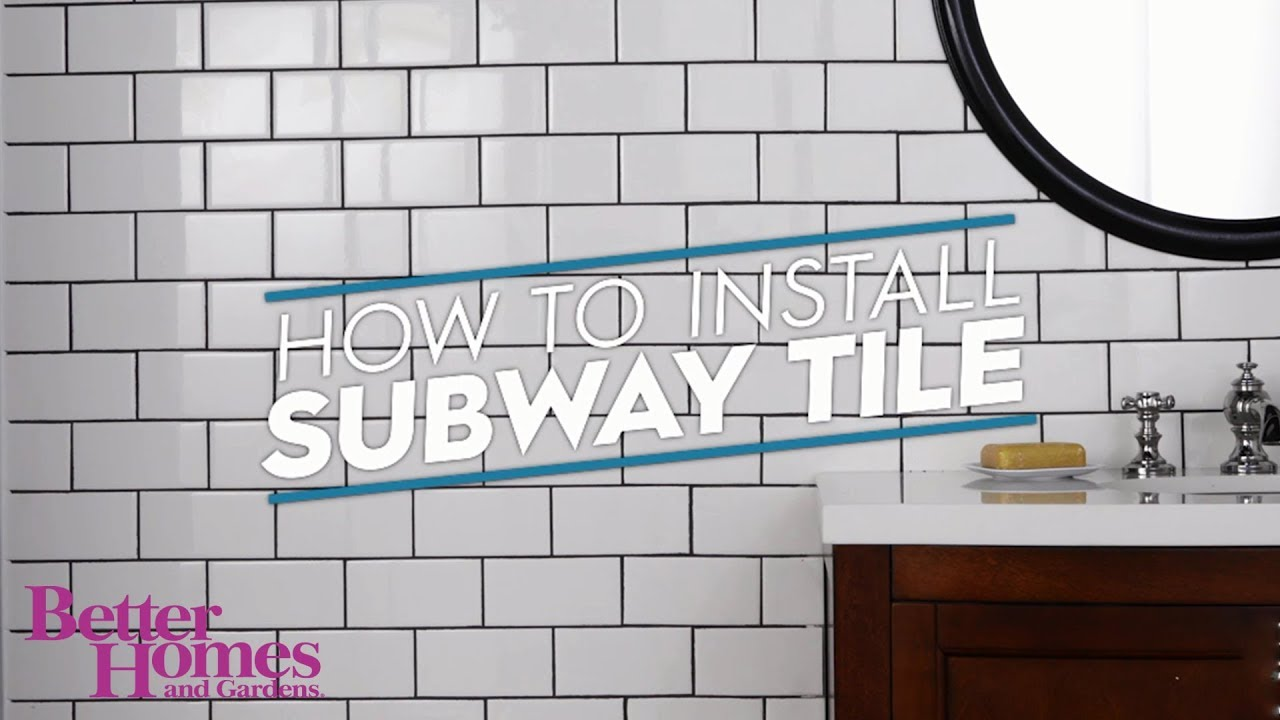 how to install subway tile