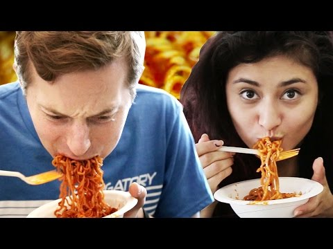 Thumbnail: People Try The Fire Noodle Challenge