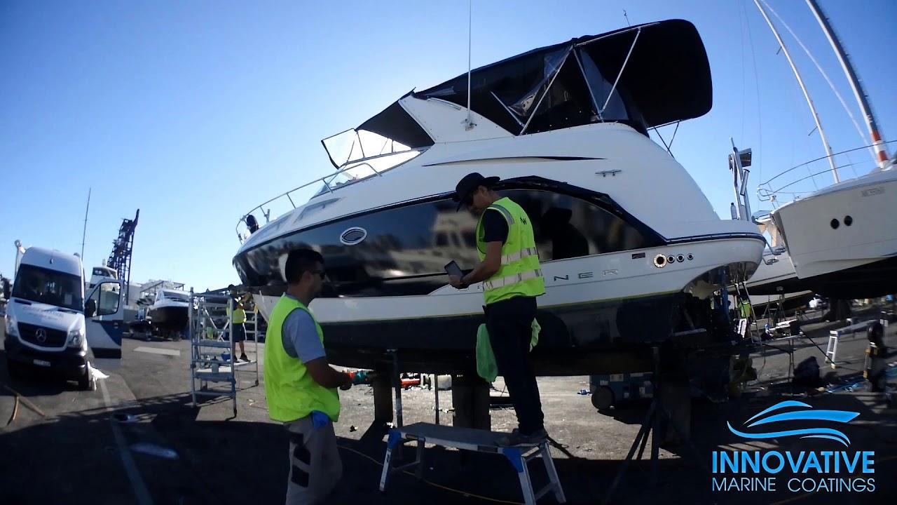 Vinyl Boat Wrap - Hull of a Bayliner at White Bay 6