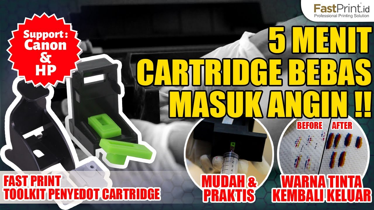 5 Menit Cartridge Bebas Masuk Angin Untuk Canon Pg 810 Cl Tinta Refill Infuse System Printer Hp Epson Brother 811 40cl 41 802