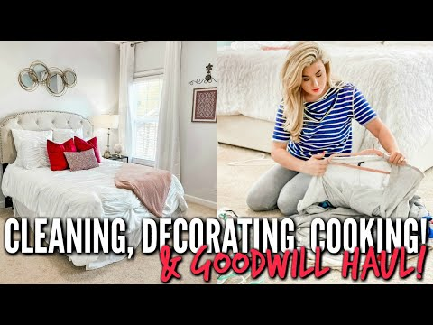 CLEAN and DECORATE and COOK with me 2020! AND GOODWILL HAUL | ALL DAY CLEANING MOTIVATION | Love Meg