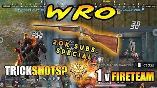 Insane WRO Shots #2 | Rules of Survival | Mobile Gameplay | 1 vs Fireteam