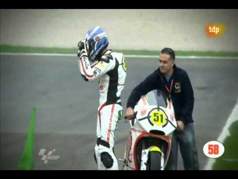 Marco Simoncelli Tribute: Michele Pirro And Gresini Team In Valencia