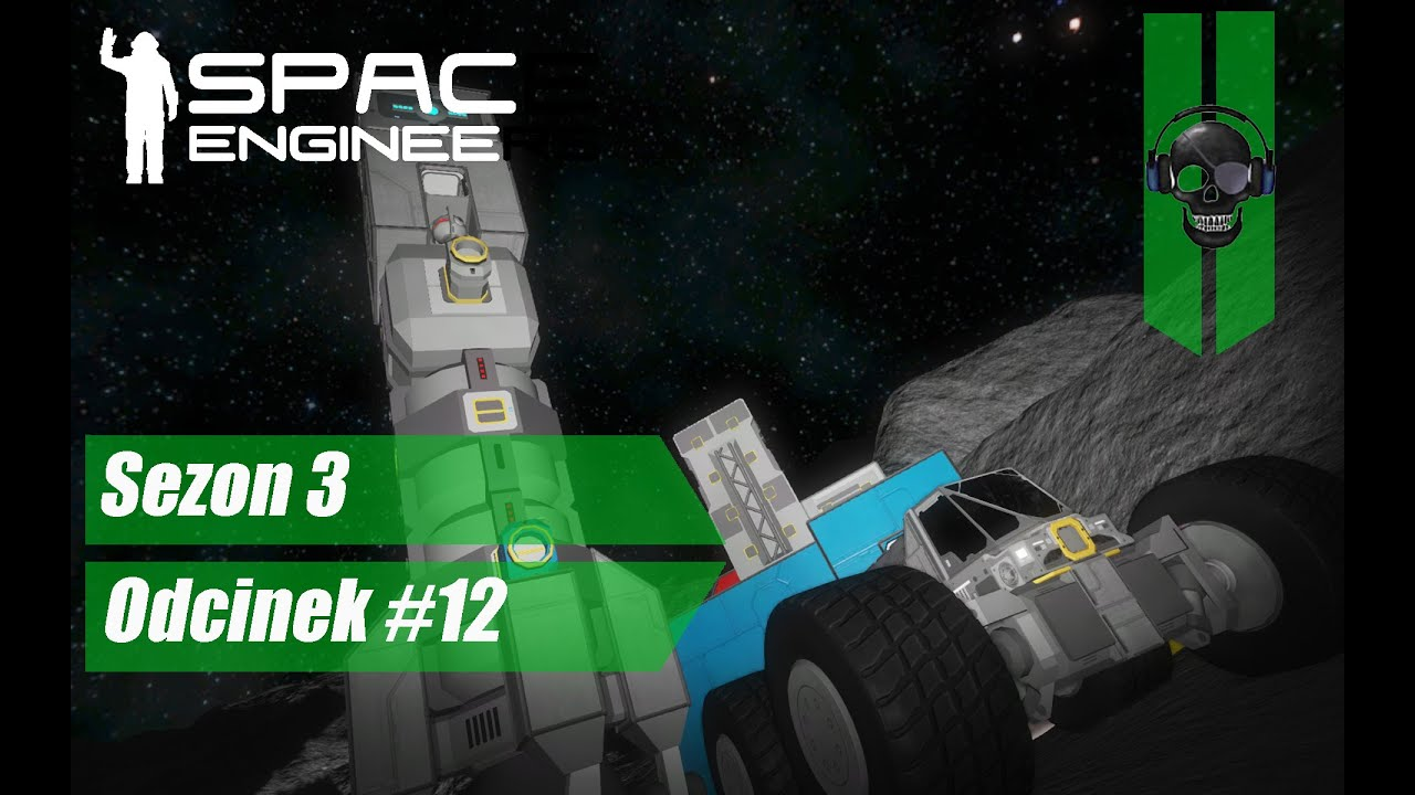 Space Engineers Planetary PL #12 - Pojazd księżycowy + nowy mikrofon