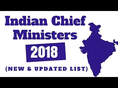 Latest Chief Ministers List 2018 | CMs of India List 2018