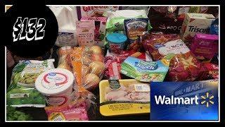 $132 Weekly Grocery Haul at Walmart + this weeks meal plan!