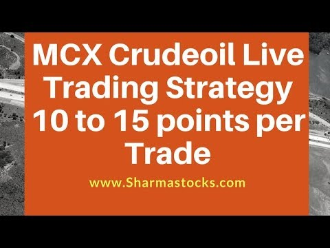 MCX Crudeoil Live Trading Strategy 10 to 15 points per Trade (in Hindi) - Sharmastocks.com