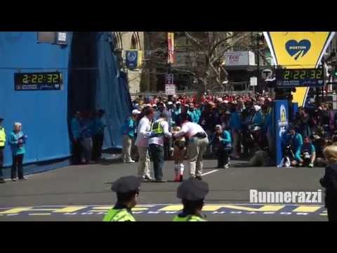 Shalane Flanagan Finishing 2014 Boston Marathon