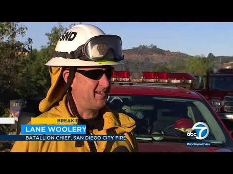 Flames engulf semi-rural San Diego area amid Lilac Fire | ABC7