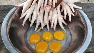 Crispy Chicken Feet Recipe / Yummy Crispy Chicken Feet Cooking