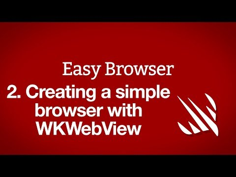 Creating a simple browser with WKWebView - a free Hacking