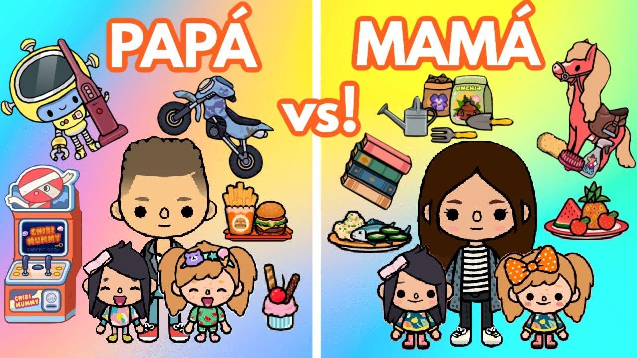 Download PAPÁ vs MAMÁ 3 Situaciones Graciosas en Toca Life World con Ruth