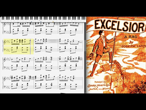 Excelsior Rag by Joseph Lamb (1909, Ragtime piano)