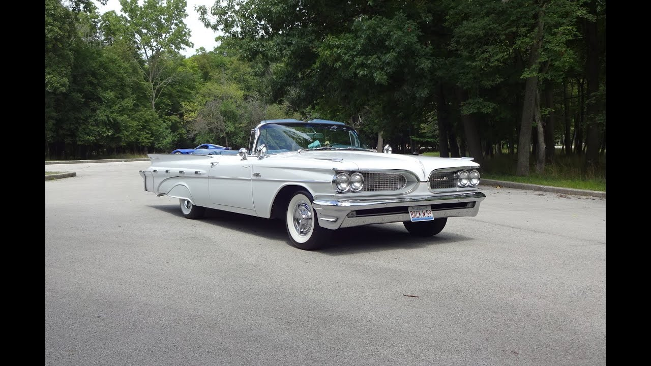 1959 pontiac bonneville convertible in white paint engine start on my car story with lou costabile