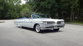 1959 Pontiac Bonneville Convertible in White Paint & Engine Start on My Car Story with Lou Costabile