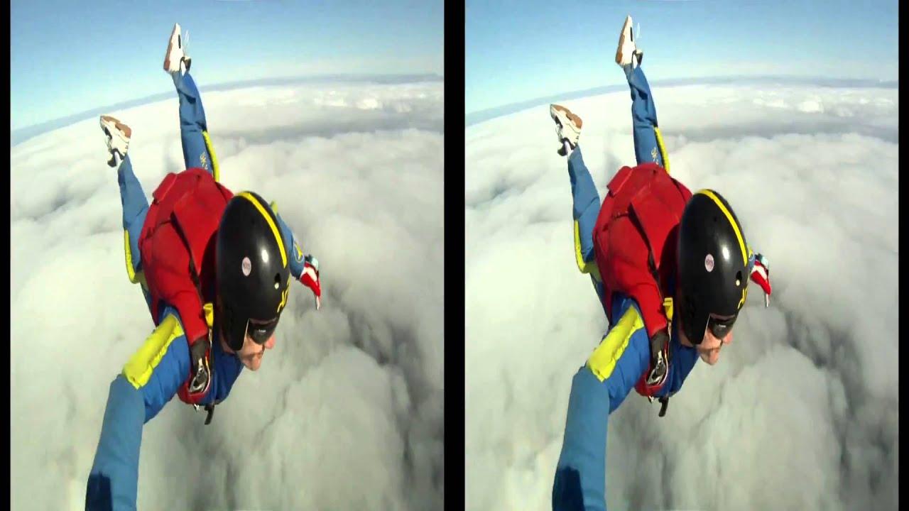 saut en parachute 3d