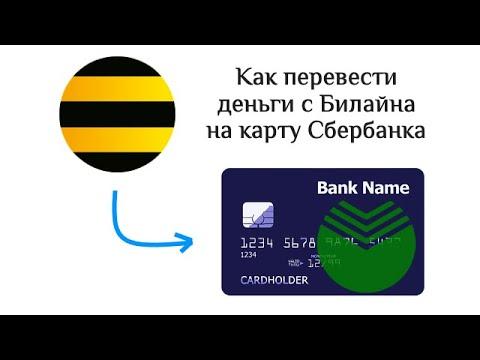 Как перевести деньги с Билайна на карту Сбербанка: 2 способа