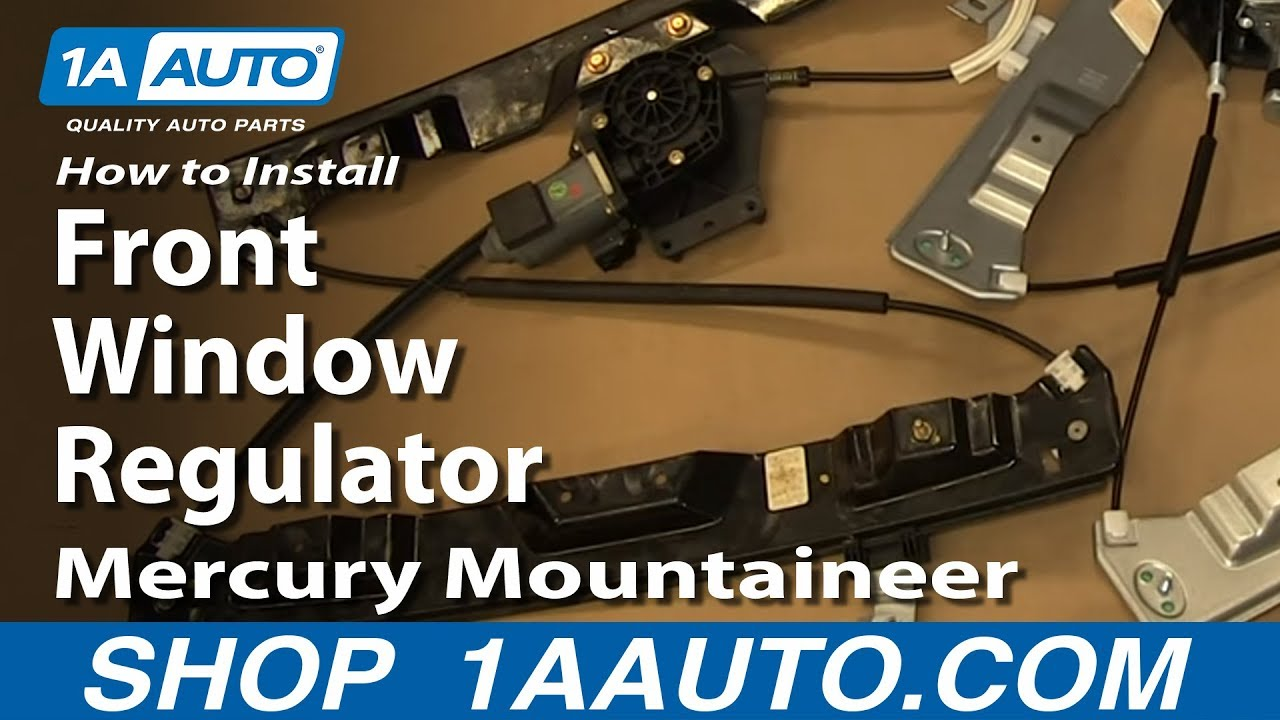 How To Install Replace Front Window Regulator 200210 Mercury Mountaineer Ford Explorer  YouTube