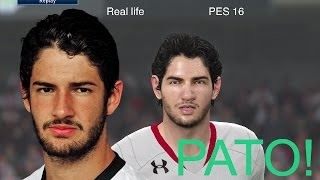 ALEXANDRE PATO IN FIFA 16 AND PES 2016! (Face Review) #42