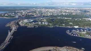 Полет над Васильевским островом dji phantom 3 Санкт-Петербург