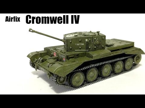 Airfix Cromwell Mk IV Starter Set (1:76 scale model kit) Timelapse Build and Review