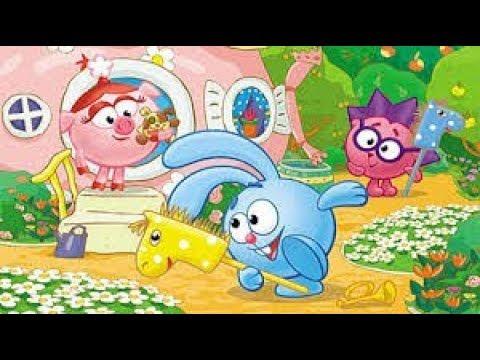 Прохождение игры Смешарики круглая компания | Полная версия | Развивающий мультфильм для детей
