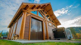 Montana Timber Frame - Enclosed Log Pavilion