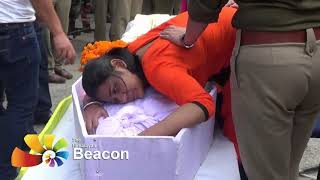 Body brought to District Hospital - Amitabha Mullick given ceremonial farewell