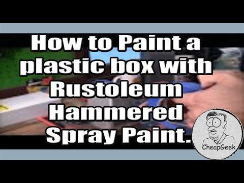 how to paint a plastic box with rustoleum hammered spray paint. Black Bedroom Furniture Sets. Home Design Ideas
