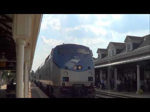 Amtrak, CSX, & VRE Action in Alexandria VA 6/17/2014
