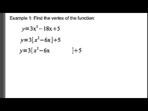 Standard Form To Vertex Form Of Quadratics Lessons Tes Teach