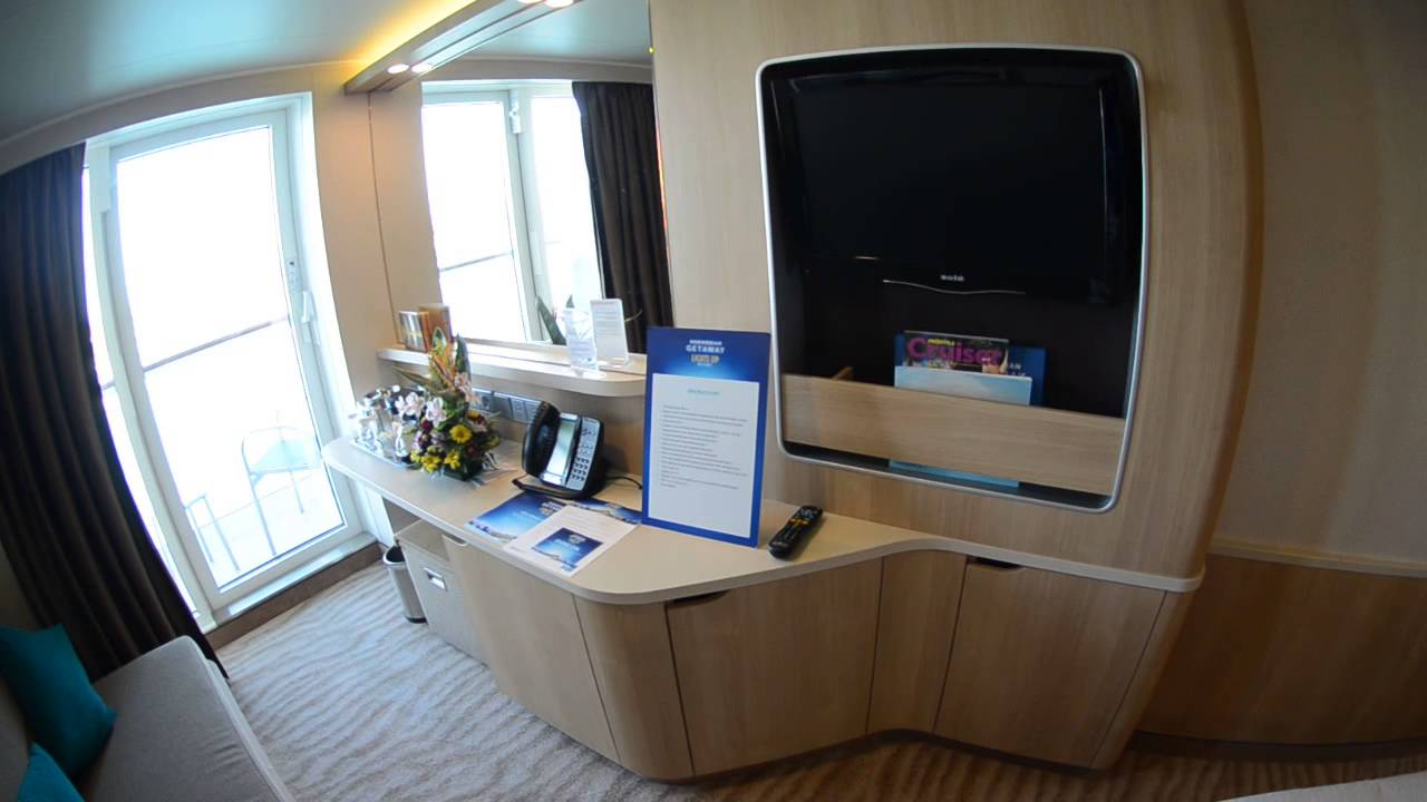 NEW Norwegian Getaway Spa Balcony Room Tour - YouTube