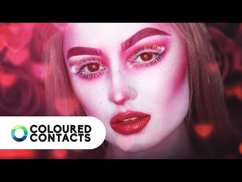 Valentines Red Costume Contact Lenses Tutorial