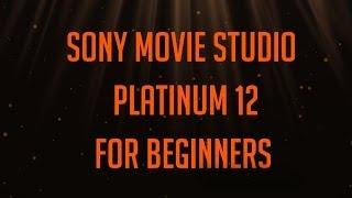 Sony Movie Studio Platinum 12 for beginners