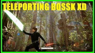 Star Wars Battlefront 2 - LOOK AT THAT LAGGY BOSSK! XD Nice Luke Skywalker killstreak!