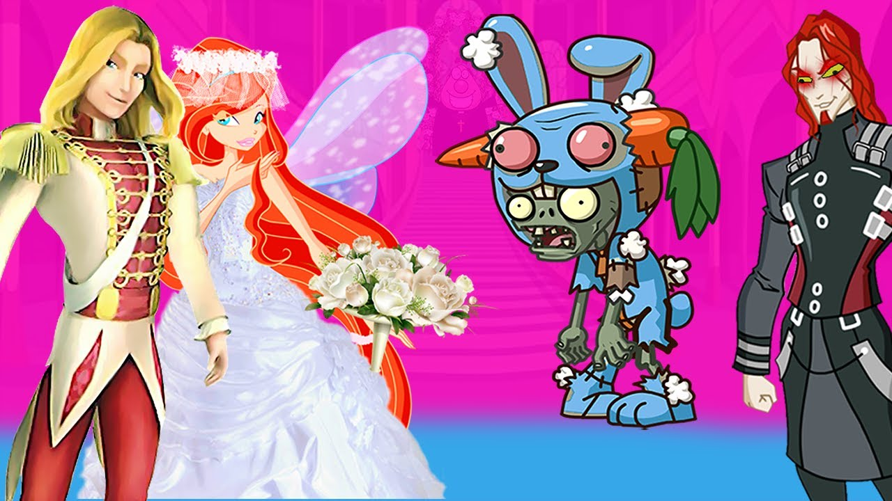 WINX CLUB love story cartoon for adults - Zombie Apocalypse Happy Wedding