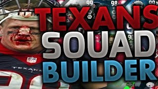 ALL-TIME HOUSTON TEXANS SQUAD BUILDERS & GAMEPLAY | MADDEN 16 ULTIMATE TEAM