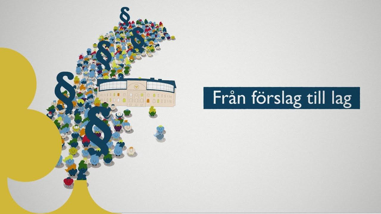 Film från Sveriges riksdag om hur riksdagen beslutar om lagar