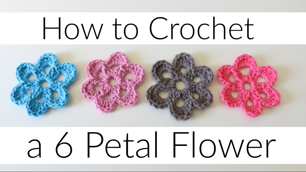 Diy crochet 6 petal puff stitch flower blanket - How To Crochet A 6 Petal Flower