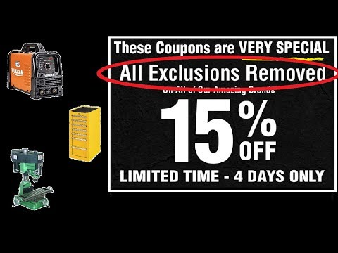 15% off EVERYTHING at Harbor Freight, ICON, US General, Vulcan, Hercules, Predator (Yes, all of it)