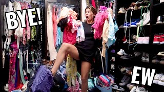 I'M THROWING AWAY ALL THE CLOTHES IN MY CLOSET... *SERIOUSLY*
