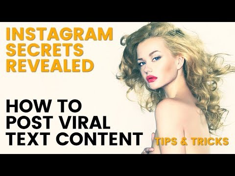 Instagram Tutorial Post content to go viral Instagram Tips & Instagram Ideas on how to upload Photos