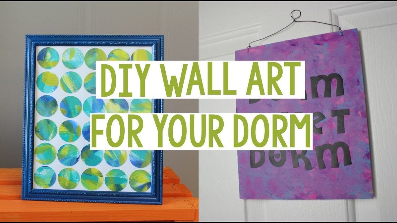 DIY WALL ART FOR YOUR DORM | DORM DECOR | EASY DORM DECOR   YouTube Part 88
