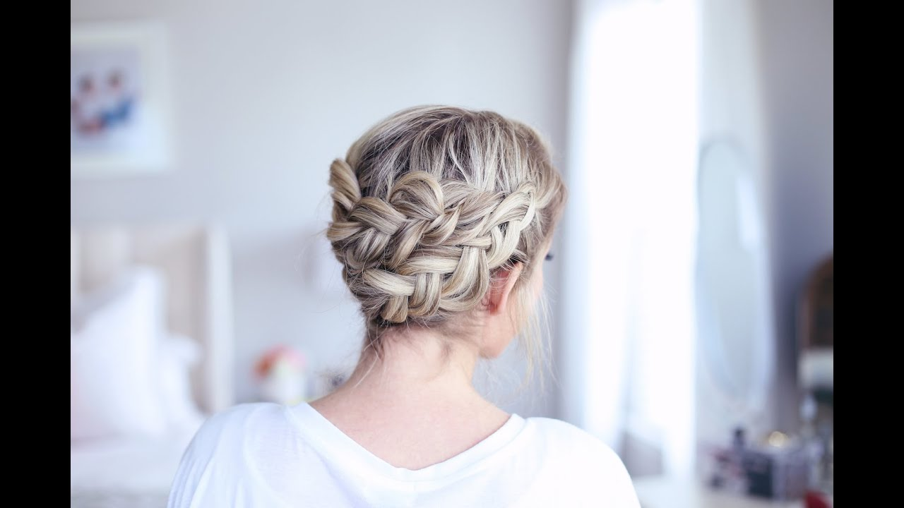 Easy diy crown braid cute girls hairstyles youtube solutioingenieria Gallery